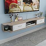 Estante suspendido, consola multimedia montada en la pared, estante de...