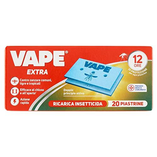 Vape Piastrine Extra, Protezione Rapida contro le Zanzare fino a 12 Ore, 20 Pezzi