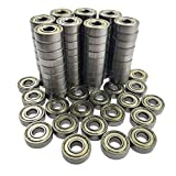 Sackorange 100 PCS 608 ZZ Skateboard Bearings, Double Shielded,8x22x7 Miniature Ball Bearings(Pack of 100)