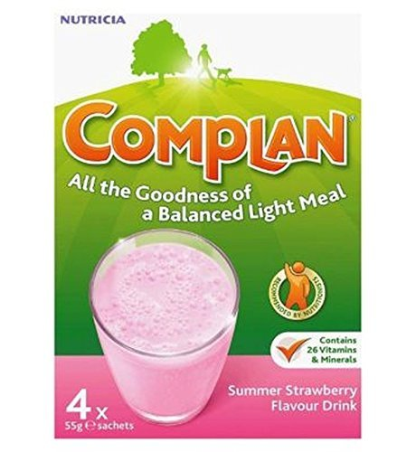 Complan Strawberry Flavour Nutritional Drink 4 X 55G - Pack of 6
