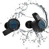 Jabees Firefly.2 Touch TWS Earbuds Waterproof Headphones & Dustproof IP67 10 Hours Playtime, Transparency Mode Water Sports Earphone Dual-Mic Headset Qi-Enabled Wireless Charging Case (Black)