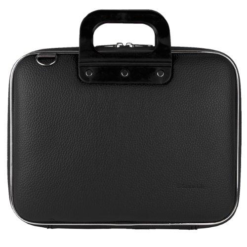 Cady 12 Inch Laptop Case, PU Leather Hardshell Messenger Shoulder Bag (Black) for 11.6 inch 12 inch 12.2 inch Tablet, Laptop