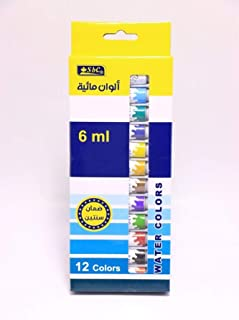 SBC Water Colors 6 ml 12 Colors