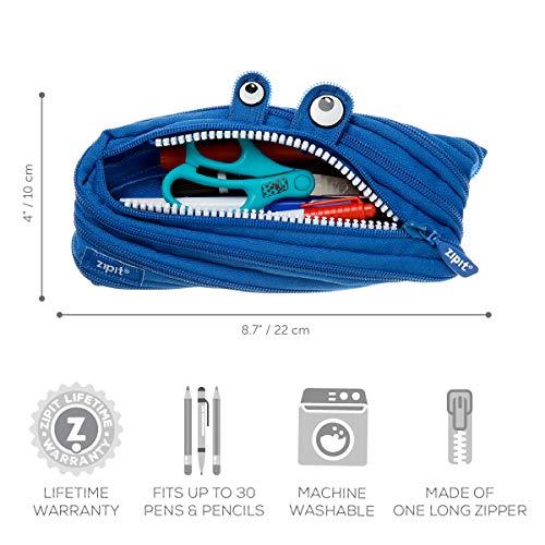 ZIPIT Monster Pencil Case, Royal Blue Photo #7