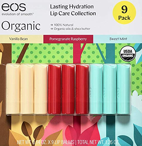 EOS Organic Lip Balm Care Collection 9 Pack