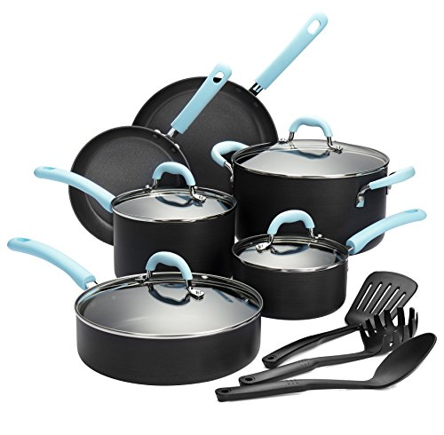 Finnhomy Super Value Hard-Anodized Aluminum Cookware Set, Double Nonstick Coating Kitchen Pots...