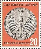 FGNDGEQN Colección de Sellos Sellos alemanes alemanes del Oeste 1958 reforma Alemana de la Moneda 10º Aniversario Moneda Marca 1