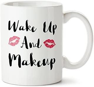 Coffee Mug, Wake Up And Makeup, Lipstick Kisses, I Love Makeup, Coffee And Makeup, Start The Day Off Right, Custom Mug, Makeup Mugs, Novelty Mug/Cup, Ceramic Coffee Mug 11oz