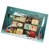 Tcerlcir Set di 6 Tovagliette Buon Natale e Felice Anno Nuovo Lavabile Antiscivolo Resistente al Calore per la Cucina e la tavola 45x30cm