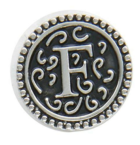 Ganz Jewel La La Snap Button for Jewelry, Initial F (ER33798)