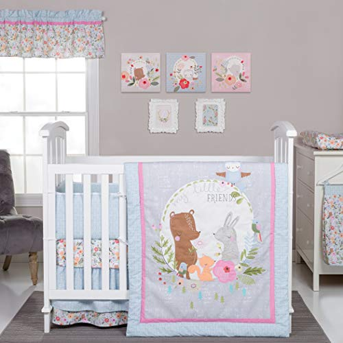 Best Review Of Friends 6-Piece Crib Bedding Set Multi Color Nature Girls Animals Cotton Polyester 6 ...