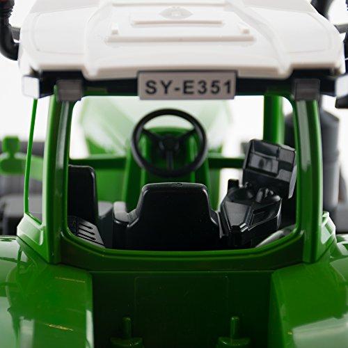 RC Auto kaufen Traktor Bild 5: efaso E351-003 1:16 2,4 GHz Ferngesteuerter RC Traktor Trecker mit Heuwender und Licht- und Soundeffekten - Komplett RTR*