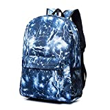 XHHWZB Mall Unisex Galaxy Mochilas Escolares Mochila de Lona Mochila de Viaje de computadora portátil Satchel Bolsa de Senderismo (Color : Azul)