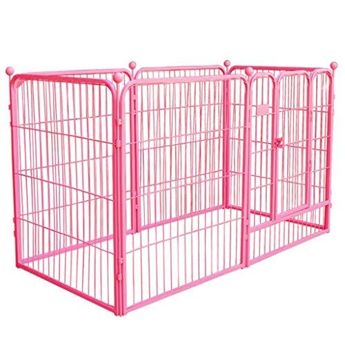 Qivor Heavy Duty Tragbare Übung Hund Playpen, Extra Large Metal Pet Fence Haus mit Tür, Innen Außen, 6 Panel (Size : 120×60×70cm)