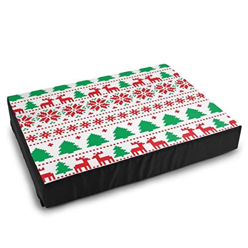 YAGEAD Pet Bedding Neujahrsweihnachtsmuster Hundebetten für mittelgroße kleine Hundekissenbett
