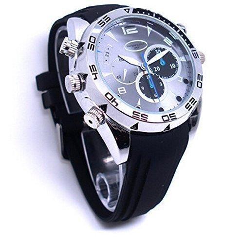 DVR-Armbanduhr mit eingebauter Spionage-Kamera (16GB, HD, 1080P, 1920× 1080, Nachtsicht, Videoaufzeichnung, Audiorekorder)