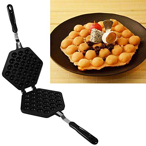 Buy Bargain Waffle Maker Egg Bubble Pan, Aluminum Alloy Non-stick Waffle Cake Baking Mold Plate(Egg ...