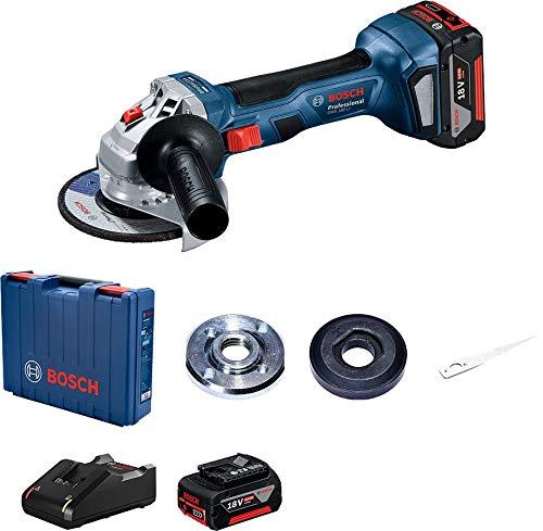 System Profesjonalny 18 V Firmy Bosch: Akumulatorowa Szlifierka Kątowa Gws 180-Li (Ø Tarczy 125 Mm, 2 Akumulatory Gba 18V 4.0Ah, Szybka Ładowarka Gal 18V-40, Walizka),06019H9021