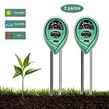 CESTLAVIE 2pcs 3-in-1 Soil Tester Sensor Meter Test Moisture, PH Value and Environment