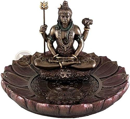 orden ahora disfrutar de gran descuento Hindú Dios Shiva En En En La Meditación plato rojoondo soporte para incienso (quemador de incienso  en promociones de estadios