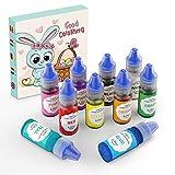 Abree Set de Colorante 10*6ml Colorante Reposteria Alta Concentración Liquid para Colorear los Macaron Fondant Pasteles Galletas Bebidas