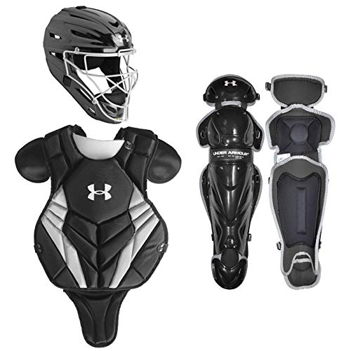 Under Armour Converge Victory NOCSAE Youth 9-12 Baseball Catcher's Equipment Set, Black