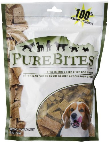 top 10 purebites freeze dried raw beef dog food or topper PureBites Beef River Dog Treat, 250 g / value size