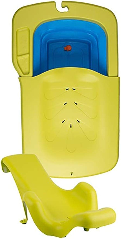 FoldingBadewanne Faltbare Kinder Baby SchwimmenBathtubFoldingPlastikeimerSilikonund Kunststoffdicker FoldingWannentragbare Wschewanne Mit Sitze Für Babys Füe Ideal Für Reisen (Farbe   Gelb)