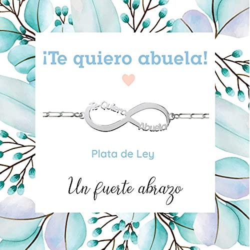 Pulsera Infinito Te Quiero Abuela de Plata de Ley 925 - Regalos para dar ánimo