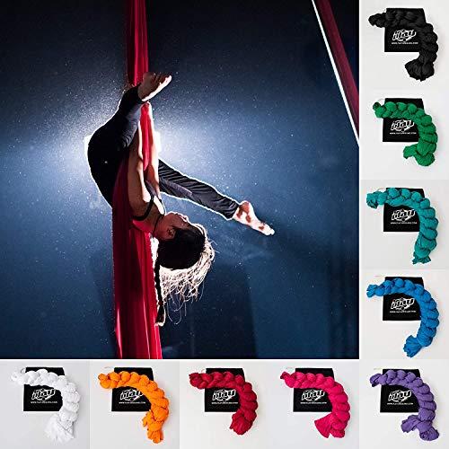 Play Juggling - Vertikaltuch für Luftakrobatik und Luftdisziplinen, 100% Polyester, Zertifiziert (8 Meter, ROT)