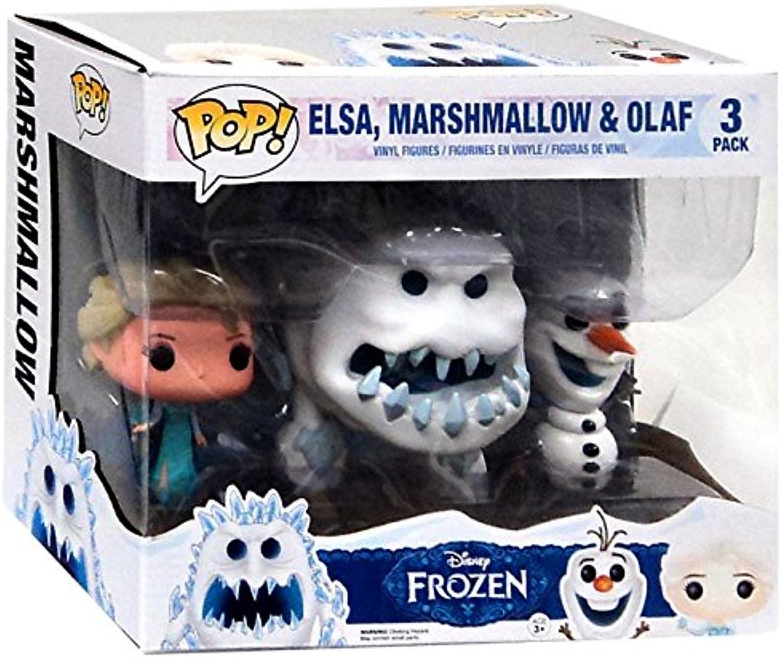 Funko  Pack de 3 Figurines Pop La Reine des Neiges  Elsa snow, Marshmallow et Olaf  0849803050443