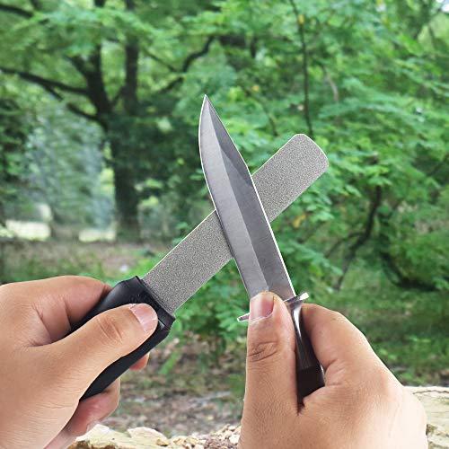 SHARPAL121Nスティックタイプナイフシャープナー両面ダイヤモンド砥石ダイヤモンドシャープナー斧砥石粗研ぎ细研ぎ荒研ぎ面325仕上げ面1200(クラシックバージョン、黒)