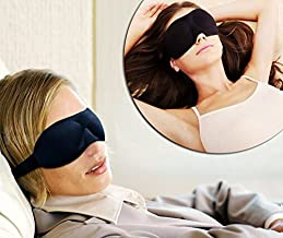 Best Sleep Mask - High Quality Material Foam Plus Pure Cotton - Soft Eye Mask With Adjustable Elastic Strap Extremely Comf...