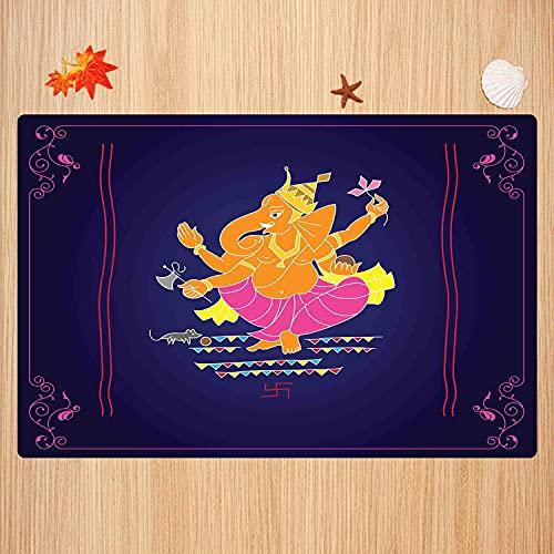 Tapis de Bain antidérapant,Coloré, Composition avec Plusieurs Bras sur Fond Sombre Conception de tourbillons et de bo Tapis Absorbant Tapis de Sol Microfibre Super Doux 50 x 80cm