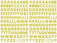 (シャシャン)XIAXIN 防水 PVC製 アルファベット ステッカー セット 耐候 耐水 ローマ字 キャラクター 表札 スーツケース ネームプレート ロッカー 屋内外 兼用 TS-541 (2点, イエロー)