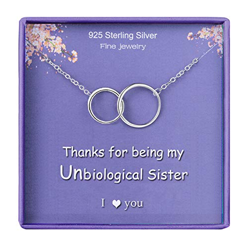 Sister Gifts BFF Necklace for Best Friends Best Sister in Law Necklace 2...