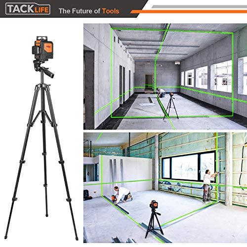 Kreuzlinienlaser TACKLIFE 3x360° Linienlaser, Grün, 40m, 3D Laser level mit 5200mAh Lithiumakku und USB Ladegerät,Selbstnivellierungslinienlaser mit Pulsfunktion, Schwenkbarer Magnethalterung-SC-L08 - 5