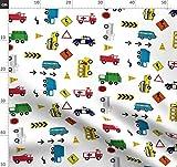 Autos, Lkws, Polizei, Müllauto, Junge, Jungen Stoffe -