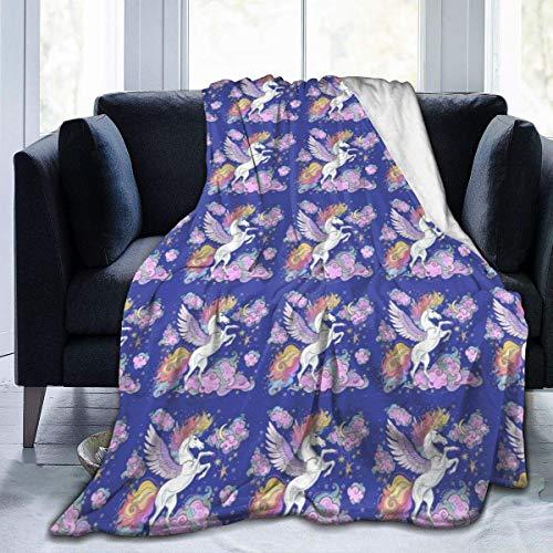 Popcorn In Spring Manta Colorida del Tiro del Unicornio del ala de Las Nubes Manta súper Suave cómoda Micro Manta borrosa Manta Decorativa