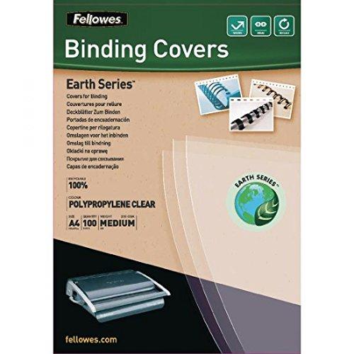 Fellowes Präsentationsdeckblatt Earth Series, Polypropylen, A4, 200 mic, 100 Stück, transparent