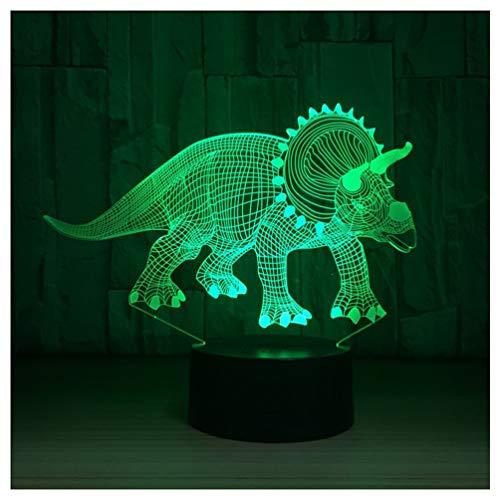 Hyvaluable 3D Dragon 3D Nacht Glühbirne Optische Täuschung Bunte Tischlampe Plexiglasplatte Lampe Kinder Beleuchtung Kinder Lampe -Spezial- & Stimmungsbeleuchtung