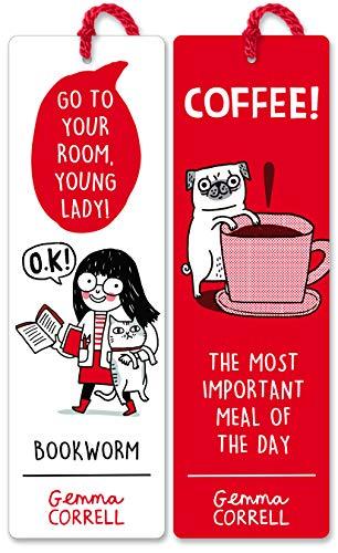 Re-marks Gemma Correll Bookmark Tassel Bookmarks- Gift Set of 2