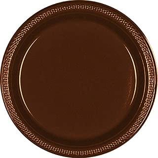 Chocolate Brown Plastic Plates | 10.25