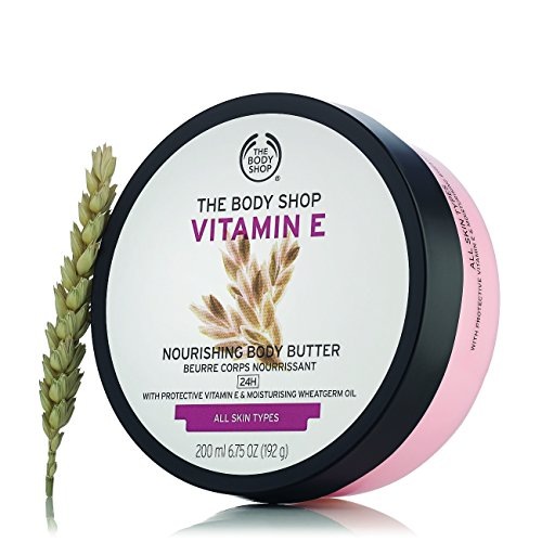 The Body Shop Vitamin E Body Butter, Nourishing Body Moisturizer, 6.75 Ounce (Pack of 1)