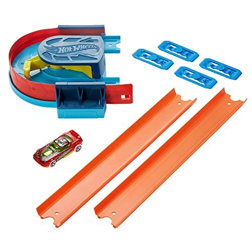 Hot Wheels GLC93 Track Builder Kurven-Kicker-Set, unendliche Möglichkeiten für Fantasie und Kreativität, Maßstab 1:64, Spielzeug ab 6 Jahren