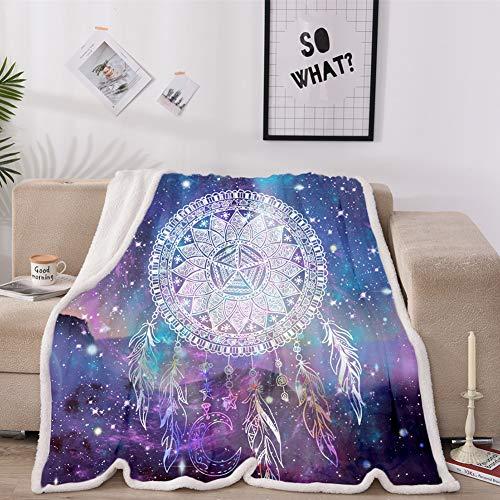 MAYIBO Fleece Blanket Schwarz Plüsch Wirf Fuzzy weiche Mikrofaser-Decke für Bettcouch und Wohnzimmer,Star Wind Chimes,60 * 80in