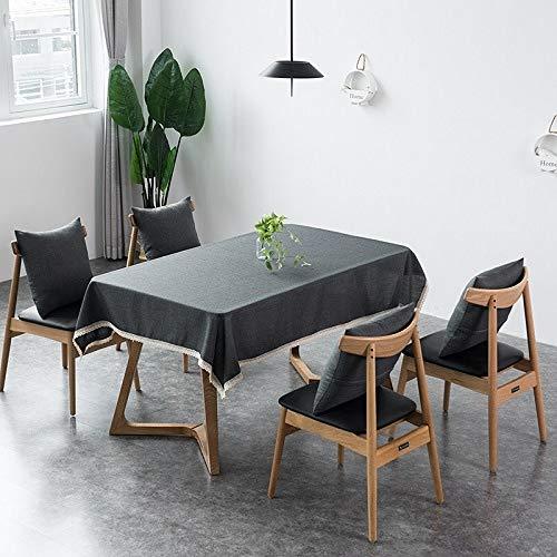 Aututer Dekorative Tischdecke Nachahmung Leinen Spitze Tischdecke Tischdecke Wohnkultur Heim- und Gartentischdecken