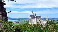 大人の子供のための500ピースのジグソーパズル、大きなジグソーパズルNuschwanstein城の景観手作りパズルパーソナライズされたギフト、リラクゼーション、瞑想、趣味に最適
