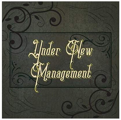 Under New Management Victorian Frame Window Cling CGSignLab 5-Pack 12x12
