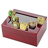 Packers Superbowl Nuevo Nuevo 6 AÑOS Set, Rings DE CAMPEONATION TAMAÑO 11 con Caja REPLICAS Regalos para Mujeres Mens KISD Boys Padres 11